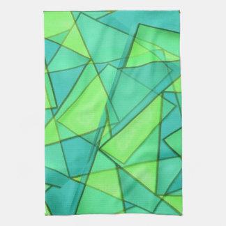 Türkis-Dreieck-Muster Handtuch