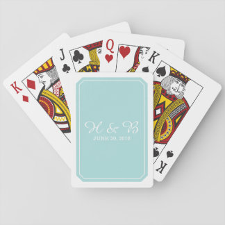 Türkis-einfach elegante Spielkarten