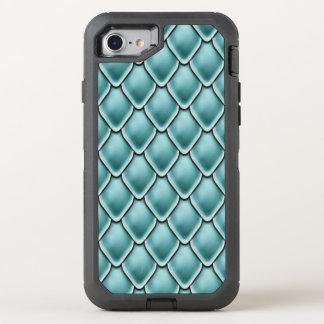 Türkis-Fantasie-Skala-Muster OtterBox Defender iPhone 8/7 Hülle