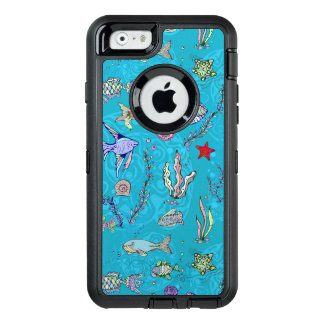 Türkis-Fisch-Muster OtterBox iPhone 6/6s Hülle