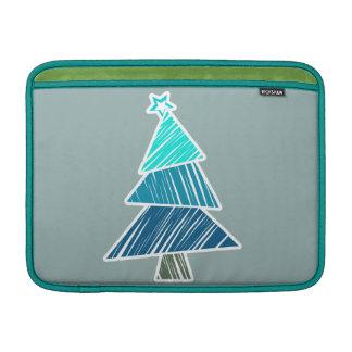 Türkis-flüchtige Weihnachtsbaum-Rickshaw-Hülse MacBook Air Sleeve
