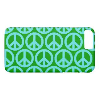 Türkis-Friedenszeichen iPhone 8 Plus/7 Plus Hülle