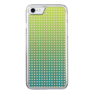 Türkis-gelbe geometrische Muster-Diamanten Carved iPhone 8/7 Hülle