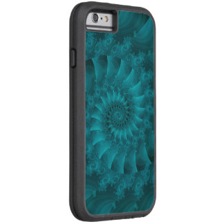 Türkis-gewundener Fraktal Xtreme iPhone 6 Fall Tough Xtreme iPhone 6 Hülle