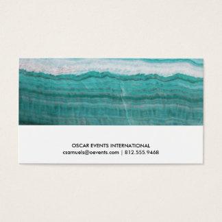 Türkis-Granit-Stein überlagerter Wellen-Druck Visitenkarte
