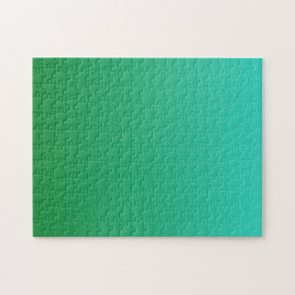 Türkis grünes Ombre Puzzle