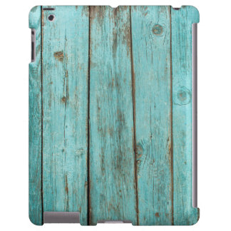 Türkis-hölzernes aquamarines Scheunen-Holz iPad Hülle