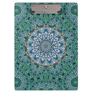 Türkis-kaleidoskopischer Mosaik-Reflexions-Entwurf