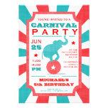 Türkis-Karnevals-Party-große Spitzen-Geburtstag Personalisierte Ankündigung