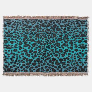 Türkis-Leopard-Druck Decke