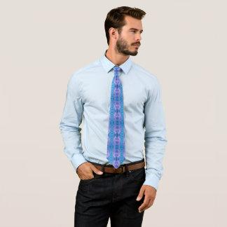 Türkis-lila Glasabstraktes Krawatte