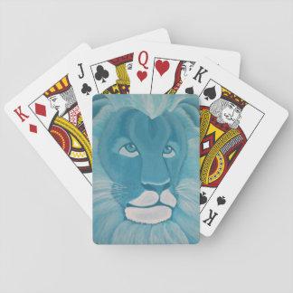 Türkis-Löwe-Spielkarten Spielkarten