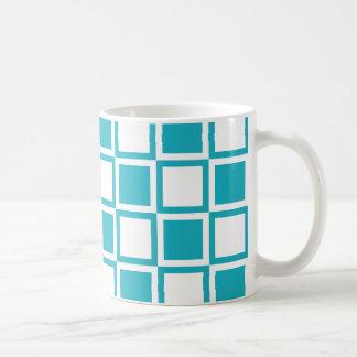 Türkis-mutige Mod-Quadrate Kaffeetasse