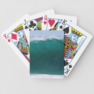 Türkis-Ozean-Welle Bicycle Spielkarten
