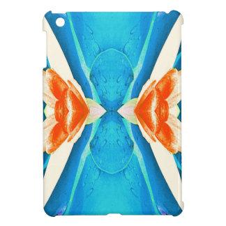 Türkis-Pfirsich-abstrakte Schmetterlings-Form iPad Mini Hülle