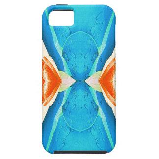 Türkis-Pfirsich-abstrakte Schmetterlings-Form iPhone 5 Hülle