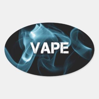 Türkis-Rauch Vape an Ovaler Aufkleber