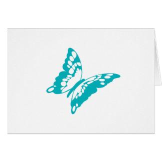 Türkis-Schmetterling Karte