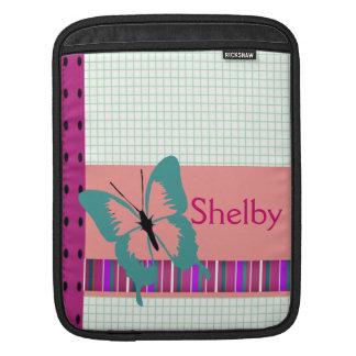 Türkis-Schmetterling Sleeve Für iPads