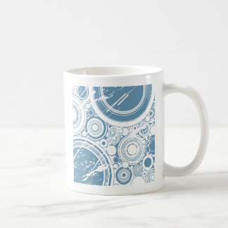 Türkis-Schmutz-Kreise: Vektorkunst: Kaffeetasse