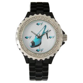 Türkis-Schuh-Druck Armbanduhr