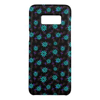 Türkis schwarzes BlumenEleganza 28 Case-Mate Samsung Galaxy S8 Hülle