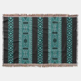 Türkis-Stammes- aztekischer Muster-Südwesten Decke