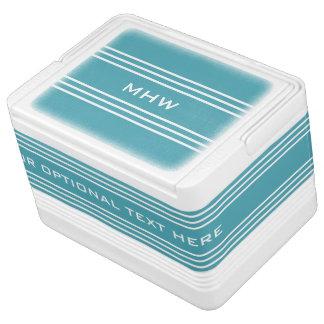 Türkis Stripes kundenspezifische Kühlbox