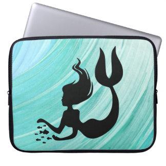 Türkis-strukturierte Meerjungfrau-Laptop-Hülse Laptop Sleeve