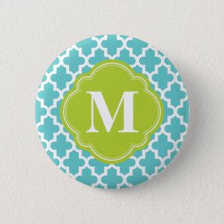 Türkis u. Grün-modernes marokkanisches kundenspezi Runder Button 5,1 Cm