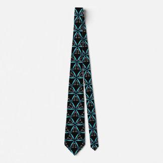 *~* Türkis u. schwarze Trendy Hand gezeichnetes Krawatte