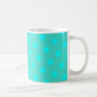 Türkis-und Aqua-Tupfen Kaffeetasse