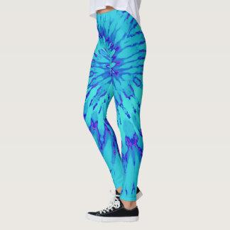 Türkis und Blau mit magentaroter gewundener Leggings