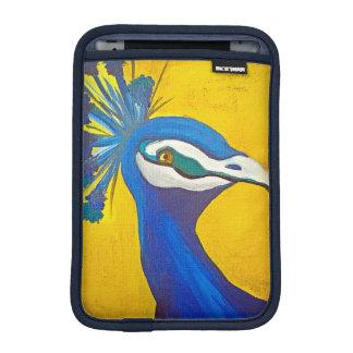 Türkis und gelber Pfau Sleeve Für iPad Mini