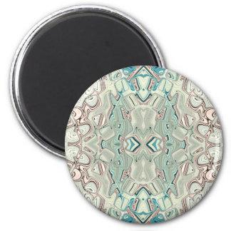 Türkis-und Kupfer-Mischung Runder Magnet 5,7 Cm