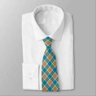 Türkis und orange sportliches kariertes krawatte