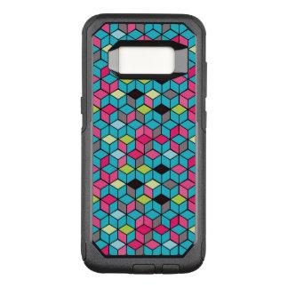 Türkis und rosa Würfel-Muster OtterBox Commuter Samsung Galaxy S8 Hülle