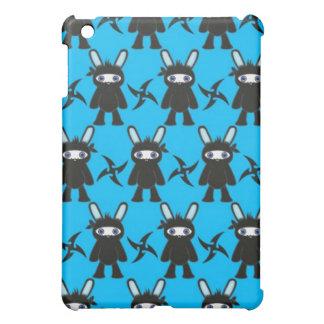 Türkis und schwarzes Ninja Häschen Pern Hüllen Für iPad Mini