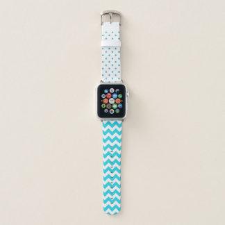 Türkis und Weiß-Muster-Apple-Uhrenarmband Apple Watch Armband