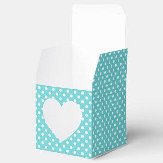 Türkis und weißer Tupfen-Bevorzugungs-Kasten Geschenkkarton