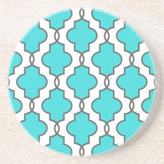 Türkis-verzierte geometrische sandstein untersetzer