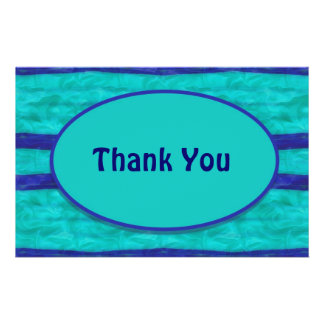 Türkisblau dankt Ihnen Flyer