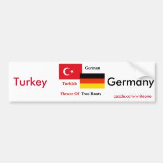 Türkisch-deutsch Autoaufkleber