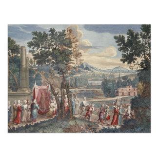 Türkische Heiratprozession, 1712-13 Postkarte