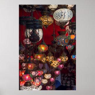 Türkische Laternen am Markt Poster