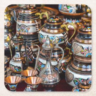 Türkische Teekannen für Verkauf in Istanbul die Rechteckiger Pappuntersetzer