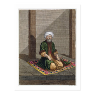Türkischer Mann, betend, 18. Jahrhundert (Stich) Postkarte