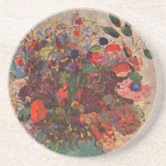 Türkischer Vase, Odilon Redon, Vintage Blumen mit Untersetzer