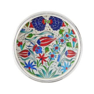 Türkisches Blumenmuster Anstecknadel