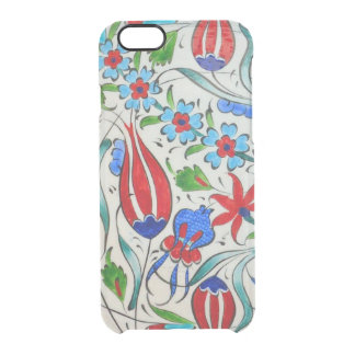 Türkisches Blumenmuster Durchsichtige iPhone 6/6S Hülle